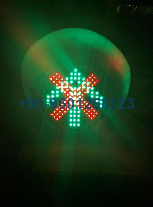 Red Cross and Green Arrow Signal Light