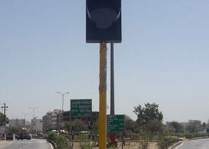 Solar Traffic Signal Blinker Lights