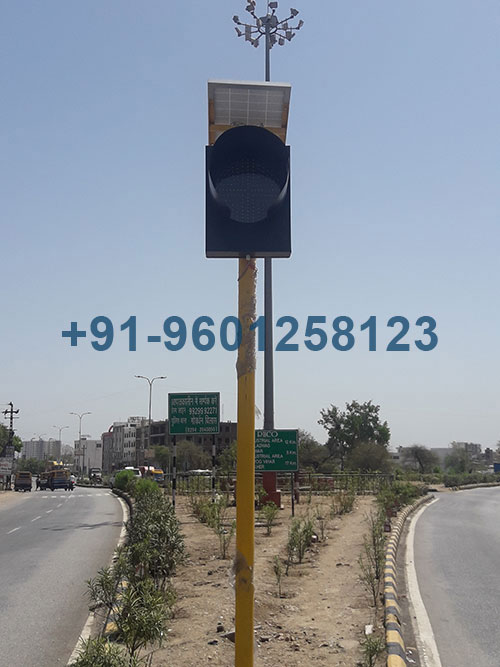 Solar Traffic Signal Blinker Lights
