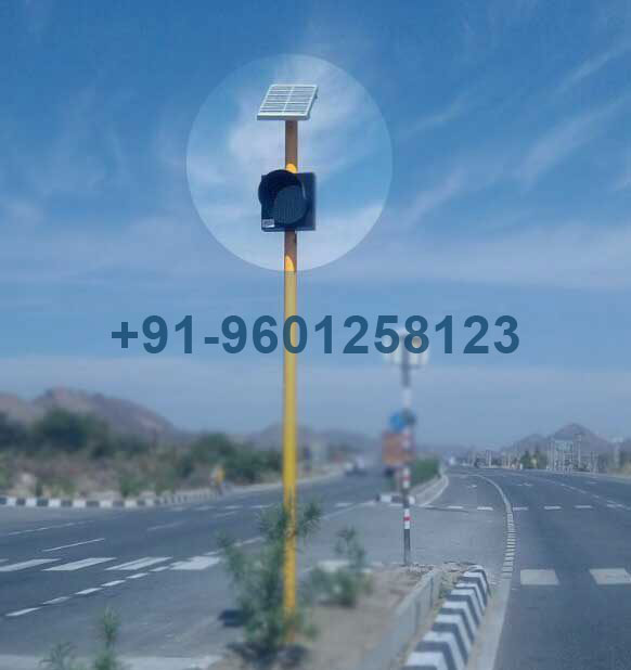 Solar Traffic Signal Blinker Light